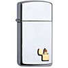 Zippo Slim Chrome Polished With Emblem