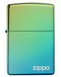 Zippo High Polish Teal met Zippo logo kopen