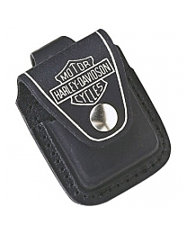 Zippo Pouch Harley Davidson Leather Black / Loop Case Etui kopen