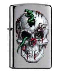 Zippo Snake Skull -