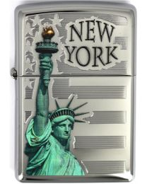 Zippo Statue And Flag -