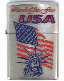 Zippo Statue Of Liberty Flag -