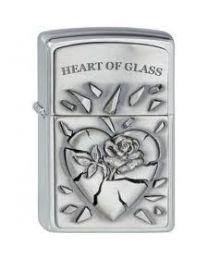 Zippo Heart of Glass Emblem -