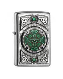 Zippo Celtic Green Cross -