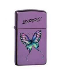Zippo Slim Colorful Butterfly -