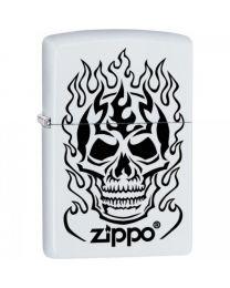Zippo Flaming Skull -