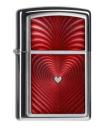 Zippo Red Heart 3D -