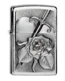Zippo Heart With Rose -