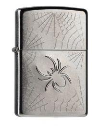 Zippo Stamped Spider Web -