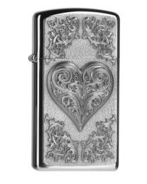 Zippo Slim Heart With Ornaments -